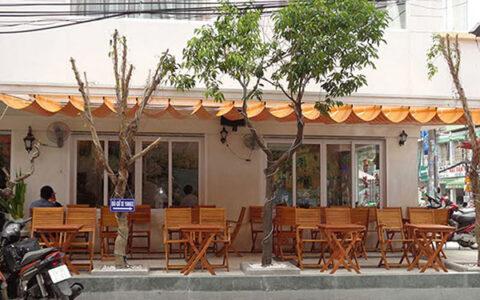 mái che cafe nhà hàng sân vườn
