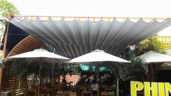 Thi công mái hiên quán cafe tại Hải Phòng