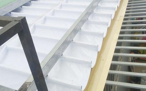 lắp mái xếp giếng trời tại hải phòng