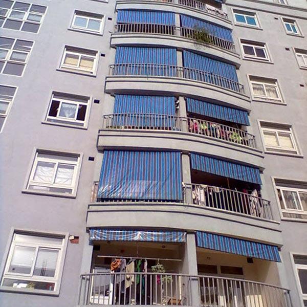 Lắp bạt che nắng nhà chung cư giá rẻ tại Hải Phòng