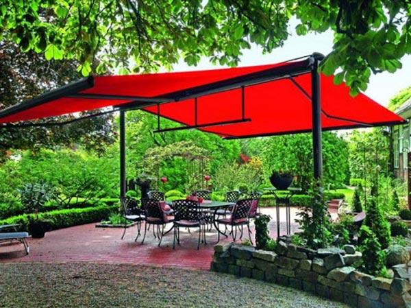 Lắp đặt bạt che nắng sân vườn tại Hải Phòng