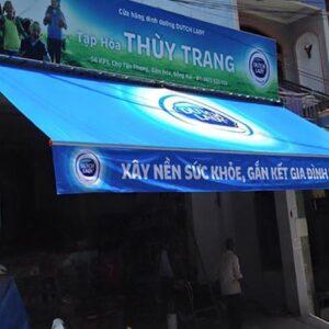 Lắp mái hiên di động cửa hàng tạp hóa tại Hải Phòng
